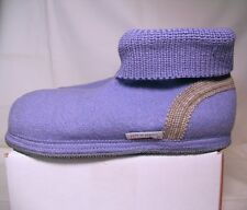 WESENJAK Austrian Boiled Wool Slippers PERIWINKLE BLUE Choose Your Size