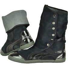 Puma Women's Shoes Sugie Suede Black Steel Grey 35037602 Boots Casual Fashion