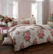 Memory Cream duvet set, Floral Bedding Cover Set. Quilt, Pillow cases, Bed Linen