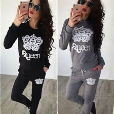 Fashion Women's Sport Tops Sweatshirt Track Pants Sweat Suits Casual Tracksuit