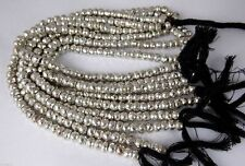 "1 Strand Natural Silver Pyrite Faceted Gemstone Rondelle Beads Bead 7"" Long"