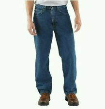Carhartt Flannel-Lined Mens Jeans Work Pants Straight Leg Relaxed Fit  NWT 2nds