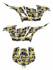 Can Am Maverick Graphics Wrap with Can Am or Pro Armor Door Digital Camo Yellow