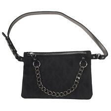 Authentic New With Tag!! Michael Kors MK Logo Leather Belt Bag IN Black 554131