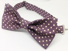 Purple Polka Dot Bow Tie & Pocket Square- Handmade Gifts For Him, Wedding Bow Ti