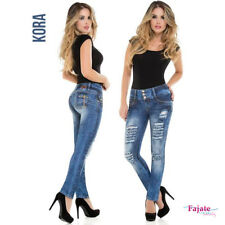 Colombian Straight Ripped Jeans Push Up Levanta Cola Butt Lifter Pants Trousers