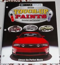 2010 FORD FULL LINE & FORD MUSTANG TOUCH UP PAINT DEALERHIP LITERATURE BROCHURE!