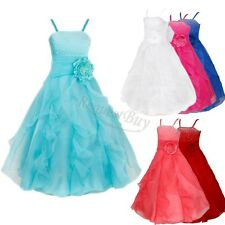 Flower Girl Princess Prom Party Wedding Bridesmaid Birthday Pageant Dress