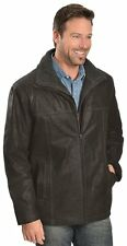 Scully Men's Leather Double Collar Jacket. Black.