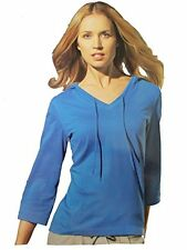 New Crivit Ladies Casual / Active wear hooded T-Shirt / Top Blouse Long Sleeve B