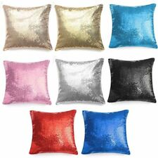 Pillow Case Glitter Sequins Solid Color Throw Cafe Home Cushion For Office Home