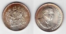 SOUTH SUID AFRICA – SILVER 1 RAND UNC COIN 1969 YEAR KM#80.2 DONGES