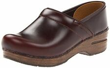 Dansko Women's Professional Brown Espresso Oiled Full Grain Leather Clogs