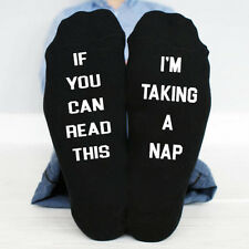 If You Can Read This, i'm taking a nap funny socks fathers day Birthday boy gift