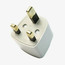 EU USA AUS UNIVERSAL TO UK  TRAVEL ADAPTER 3 PIN POWER PLUG CONVERT UK