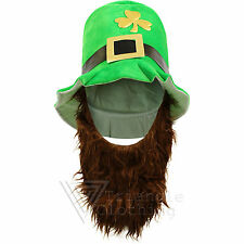 Leprechaun Hat With Beard St Patricks Day Paddys Lucky Charms Clover Irish