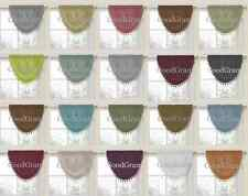 Luxurious Onion Fringed Waterfall Window Valances - Assorted Colors