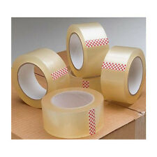 STRONG PACKING TAPE - CLEAR LOW NOISE 48mm x 66M Rolls PARCEL TAPE