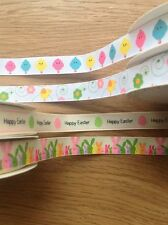 Berties Bows Easter Ribbon - 16mm Wide - Bunny, Chick, Happy Easter Egg - 1 / 3m