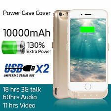 10000mAh External Battery Case Power Bank Pack Charging For iPhone 6 / 7 Plus