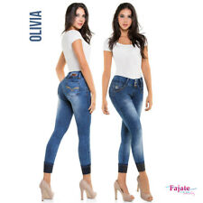 Colombian Straight Jeans Push Up High Waist Levanta Cola Firm Butt Lifter Pants