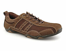 Mens New Brown Suede Lace Up Leisure Casual Sport Shoes
