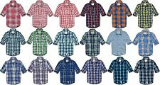 ABERCROMBIE & FITCH MENS FLANNEL SHIRT LONG SLEEVE BUTTON DOWN UP PLAID WOVEN