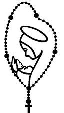 Decal Vinyl Sticker Saint Mary Rosary Fatima Calcomania Rosario Virgen Maria A +