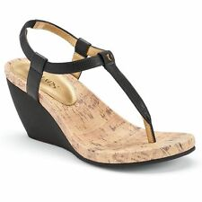 NEW Chaps Raevyn wedge sandals thong slip on CHOOSE color/size  MSRP $49.99