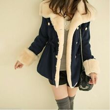 2016 Women's Warm Winter Faux Fur Hooded Parka Coat Overcoat Long Jacket Outwear