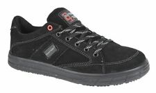 Mens New Leather Safety Skate Style Lace Up Work Boots Trainers Shoes Size 6-13