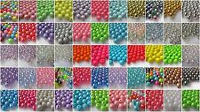 100 8mm Round Acrylic Beads - Choice of Colours & Finishes - BUY 5 GET 1 FREE