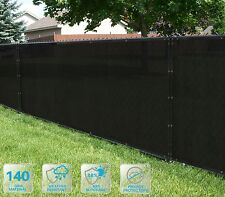 Customized Privacy Screen Fence Windscreen Garden Fabric Shade Black 4'FT101-150