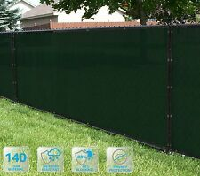 Customized Privacy Screen Fence Windscreen Garden Fabric Shade Green 4'FT101-150