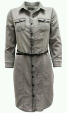 Women Gray Denim belted dress fashion S,M,L Ci Sono Cavalini NEW!