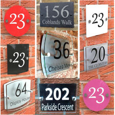 House Number Plaques Signs Acrylic Door Glass Aluminium Signage Street Name Flat