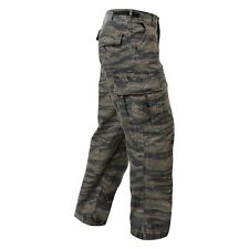PANTS RIP STOP TIGER STRIPE CAMO ROTHCO ULTRA FORCE BDU MILITARY VINTAGE STYLE