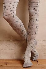 NIP Anthropologie Tannenbaum Tights by Tintoretta, S/M, M/L, Tree print