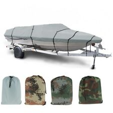 Heavy Duty Boat Cover 11-13/14-16/17-19/20-22' Fish-Ski V-Hull Speedboat Storage