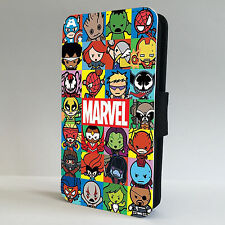Marvel Characters Superhero LEATHER FLIP PHONE CASE COVER IPHONE & SAMSUNG