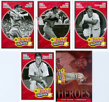 Lot of 5 Stan Musial 2005 Upper Deck Baseball Heroes Red Trading Cards