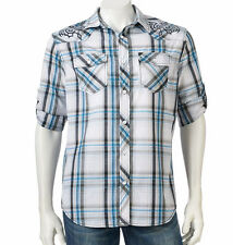 NWT Helix Embroidered Woven Button-Down Athletic Fit, Mens Shirt Sizes M, L, XL