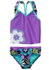 NWT ZeroXposur Tankini Swimsuit Skirt Set Orchid Purple Blue Girls Size 5