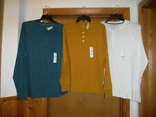 Long Sleeve Men's Henley T-Shirts old Navy size XL,L,Spruce Green,White NWT