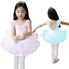 New Girls Ballet Tutu Dance Skate Dress Kids Leotard Dancing Skirt Party Costume