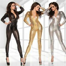NEW SHINY METALLIC SEXY BODY SUIT CATSUIT COSTUMES FANCY DRESS COSPLAY SUIT E004