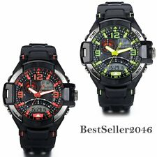 Waterproof LED Alarm Date Mens Military Sport Analog Electronic Wrist Watch New