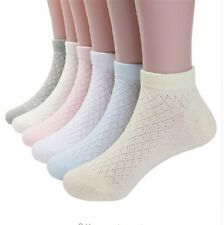 5pairs mesh cotton ankle socks for baby girls cozy breathable kids short socks S