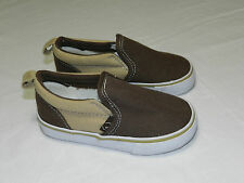 Gymboree Toddler Boys Canvas Slip on Sneakers Navy Blue/Blue or Brown Size 9 New