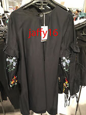 ZARA DRESS WITH EMBROIDERED SLEEVES XS-L REF. 0881/100